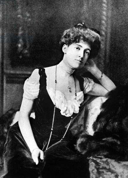 Edith Newbold Wharton (1862-1937), american writer, late 1890's