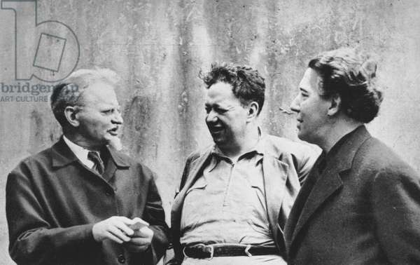 Leon Trotsky, Diego Rivera and Andre Breton, 1938, photo by Fritz Bach
