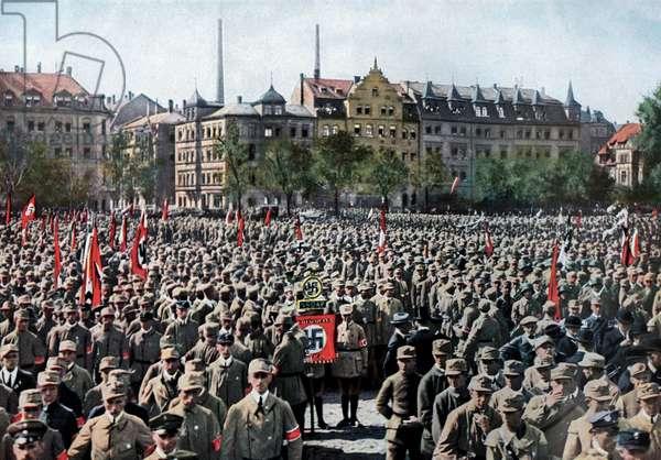 Nuremberg, Germany: A Parade of the SA, 1923