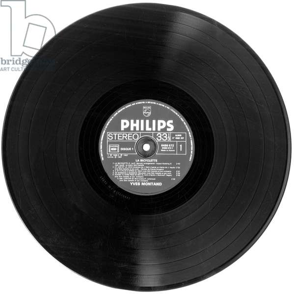 Long-playing record of french singer Yves Montand 60's (compilation)