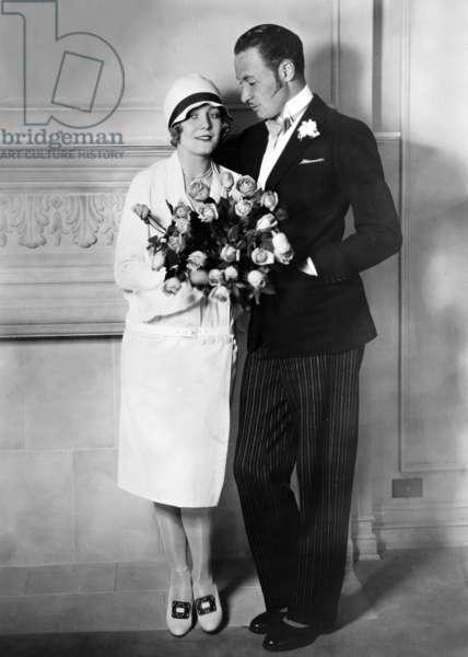 Wedding of actress Vilma Banky and Rod La Rocque 1927