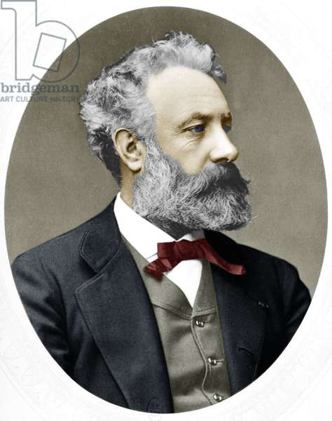 Jules Verne (1828-1905) French novelist, here in 1877