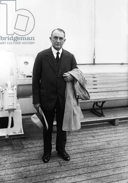 Charles Horace Mayo (1865-1939) american physician, aboard a liner c. 1925