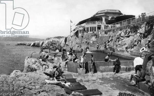The pavilion Eden Roc on Antibes cape (French Riviera), Postcard, 1933