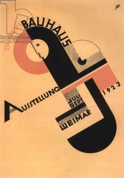 Poster by Joost Schmidt for the Bauhaus exhibition in 1923 in Weimar
