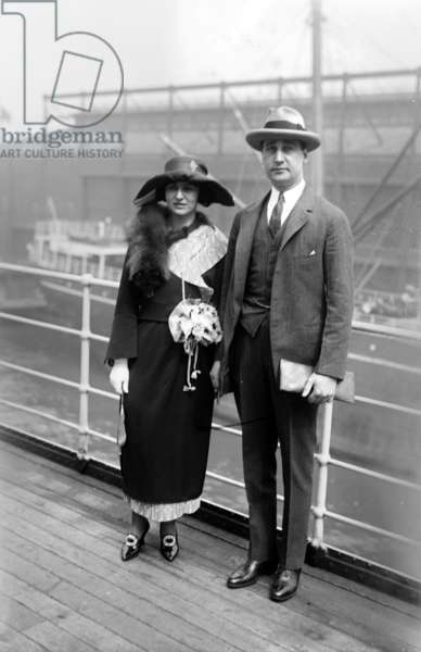 Walter Staunton Mack Jr (1895-1990) preisdent of Pepsi Cola and his wife a board a liner c. 1925