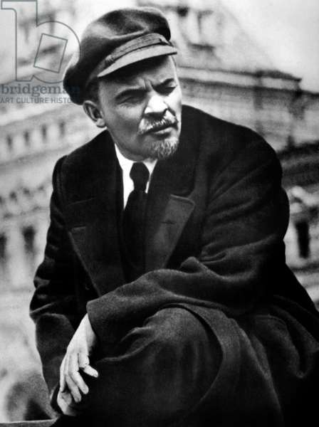 Lenin (Vladimir Ilitch Oulianov 1870-1924) on Red Square in Moscow may 25, 1919
