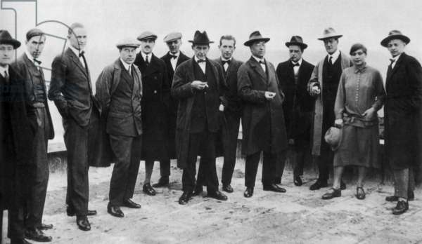 The Bauhaus team, c.1920 (b/w photo)