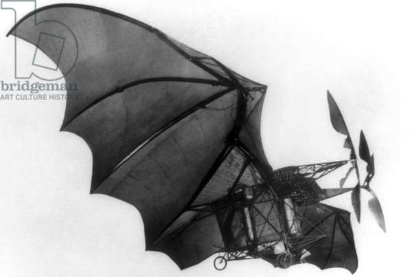 The Avion III made by Clement Ader: on october 14, 1897: 1st flight (300m) but bad landing