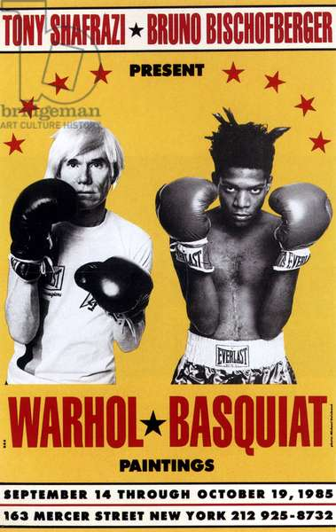 Exhibition Andy Warhol and Jean Michel Basquiat in New York poster of 19 October 1985