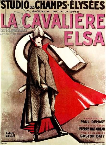 """Poster for play """" La cavaliere Elsa """" in Paris, 1925 (colour litho)"""