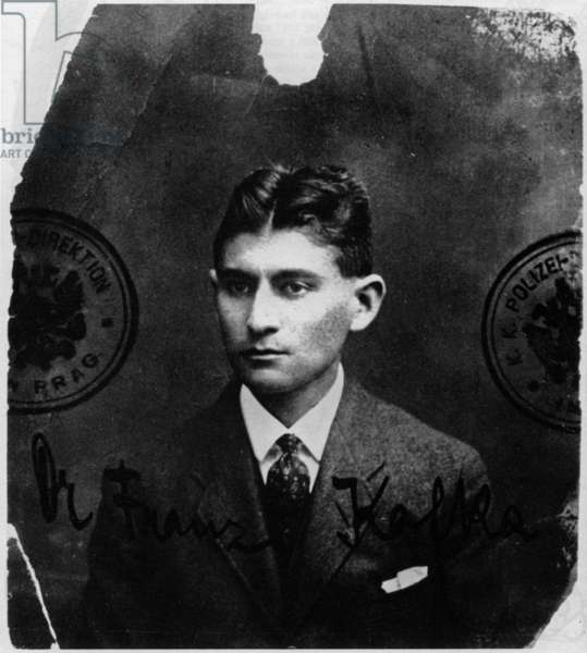 Franz Kafka (1883-1924) czeck writer, c. 1915 (identity photo)