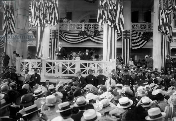 Woodrow Wilson (1856-1924) american president in 1913-1921, c. 1917