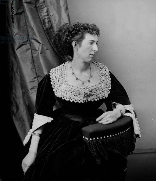 Isabella Marie Boyd aka Belle Boyd (1844-1900) Confederate spy during civil war, c. 1865