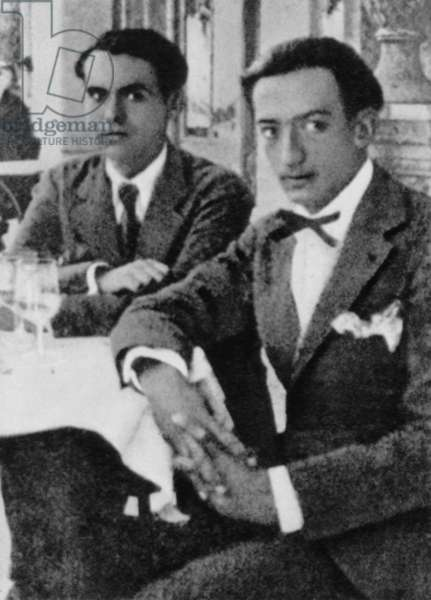 Federico Garcia Lorca with Salvador Dali, c.1925 (b/w photo)