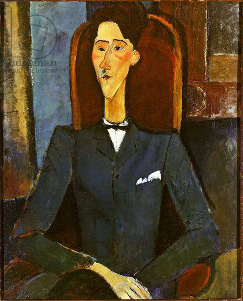 Jean Cocteau, painting by Amedeo Modigliani in 1916