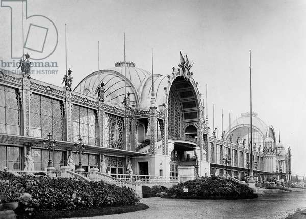 World Fair in Paris in 1878: view of champ de Mars palace