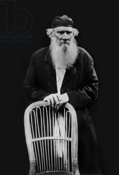 Leo Tolstoy (1828-1910) russian writer , here c. 1908