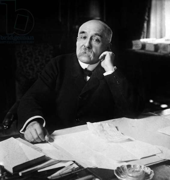 Georges Clemenceau (1841-1929) french journalist and politician, head of government in 1906-1909 et 1917-1920, c. 1910