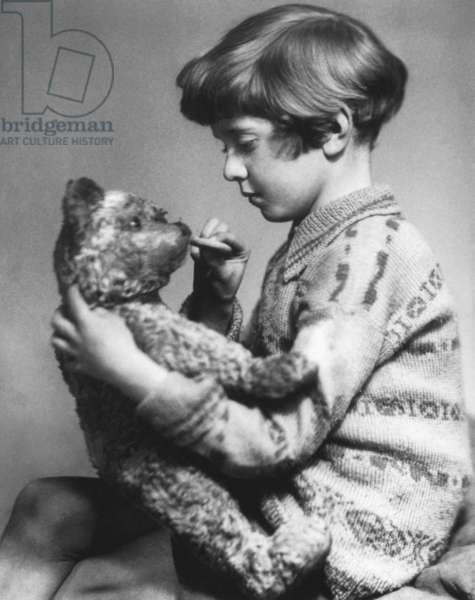 Christopher Robin Milne, son of english novelist Alan Alexander Milne who wrote the story of Winnie the Pooh (1926), picture by Marcus Adam, 1928