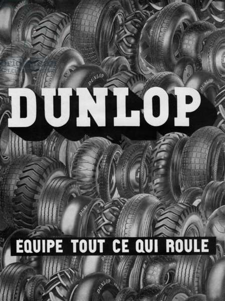 French advertisement for Dunlop tyres, 1949