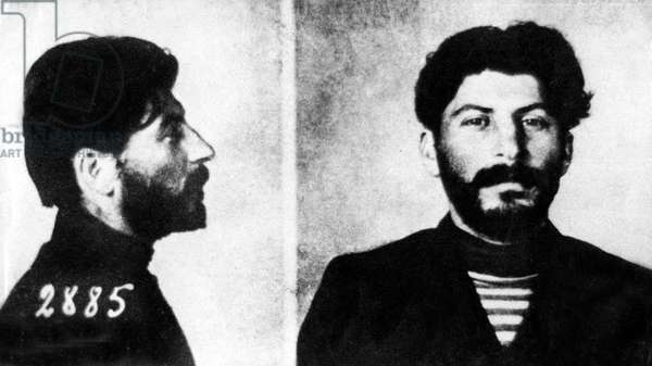 Josef Stalin (1879-1953) czarist police file photograph, march 1908