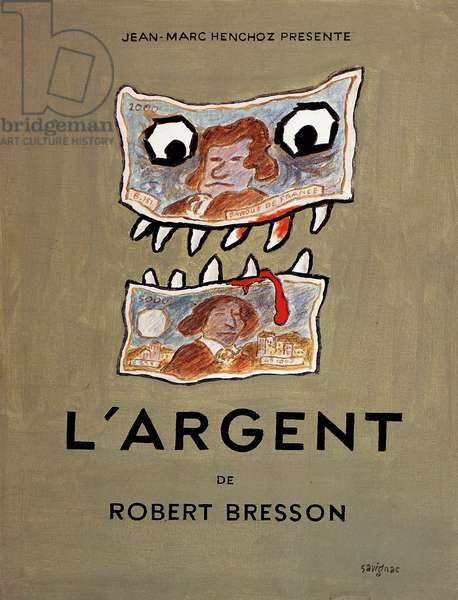 Affiche pour film «L'Argent» de Robert Bresson, 1983 (couleur litho)