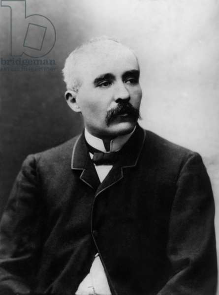 George Clemenceau (1841-1929) French politician, he was distinguished in the head of the French government in 1917 and was one of the signatories of the treaty of Versailles so he was nickname the father of the victory, photographied between 1870 and 1885, extracted the collection Felix Potin, 500 celebrities contemporary