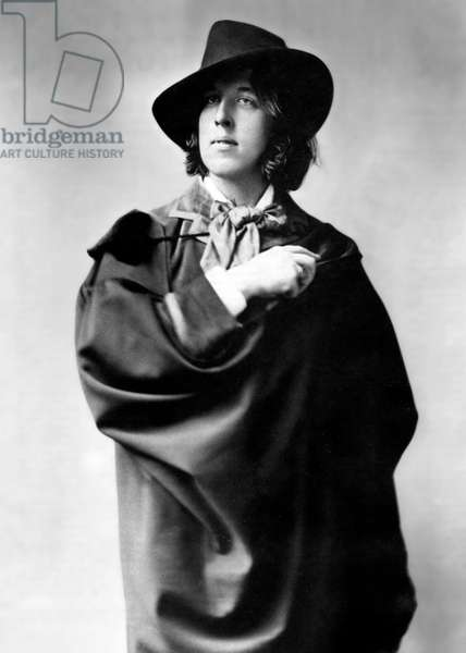 irish writer Oscar Wilde (1854-1900) in 1882