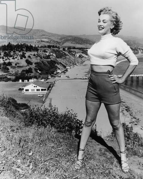 Marilyn Monroe in 1953 on California