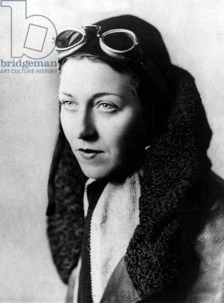 American woman pilot Amy Johnson (1903-1941), c. 1932