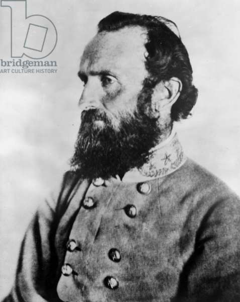 Major General Thomas 'Stonewall' Jackson (1824-1863) a leading figure of the Confederate army during the American Civil War