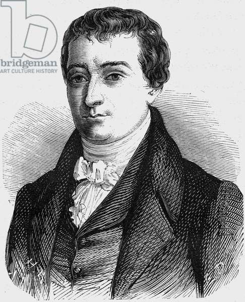 William Hyde Wollaston (1766-1828) english physicist and chemist, engraving