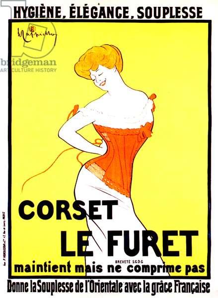 Corset print ad by Leonetto Cappiello around 1901