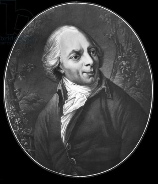 Jacques Delille (1738-1813) french poet, engraving, 1813