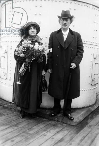 Ignace Jan Paderewski (1860-1941) Polish pianist and politician with his 2nd wife Helena Gorska c. 1920