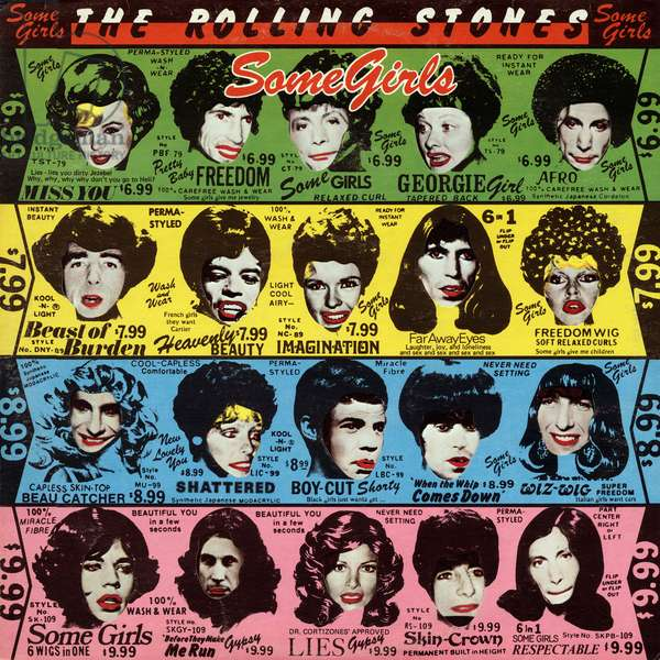 "Vinyl record sleeve of ""Some Girls"" song by The Rolling Stones in 1978"