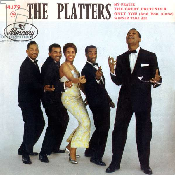 Extended play vinyl record sleeve of The Platters 1956