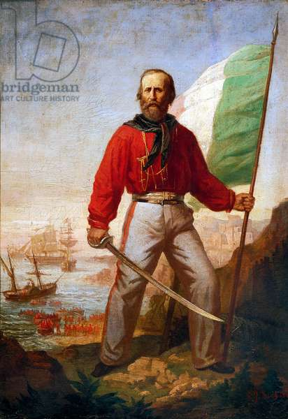 Giuseppe Garibaldi during the landing of the Thousand at Marsala, 11th May 1860 (oil on canvas)