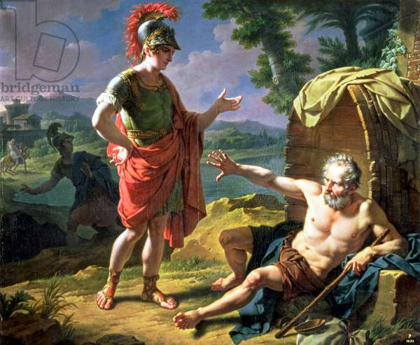 Alexander and Diogenes, 1818 (oil on canvas)