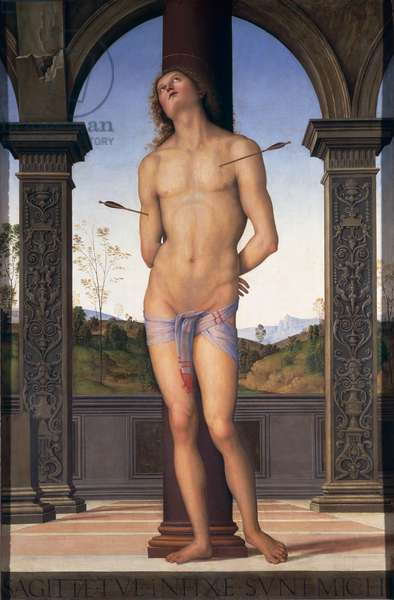 St. Sebastian, c.1490-1500 (oil on panel)