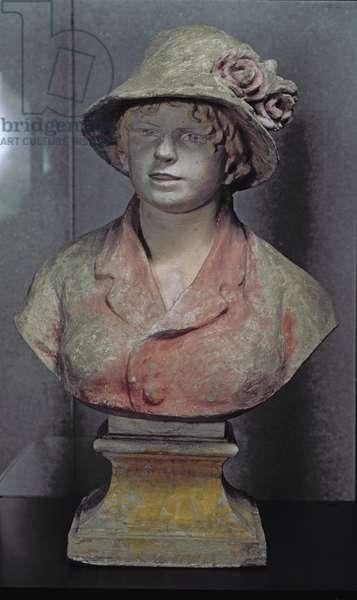 Madame Renoir, 1916 (polychrome plaster)
