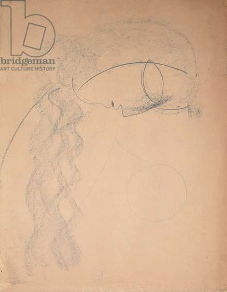 Study for Mademoiselle Pogani (chalk on paper)
