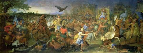 The Battle of Arbela (or Gaugamela) 331 BC, c.1673 (oil on canvas)