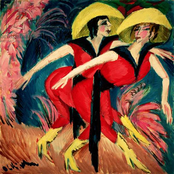 Dancers in Red, 1914 (oil on canvas)