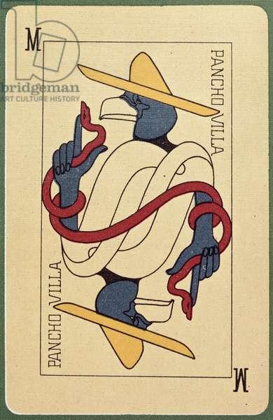Pancho Villa Playing Card (colour litho)