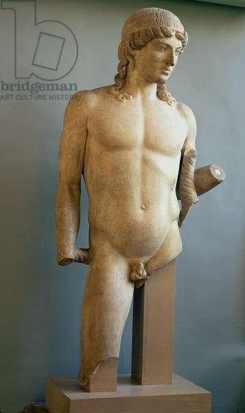 Statue of Apollo, Greek, c.480-400 BC (marble)
