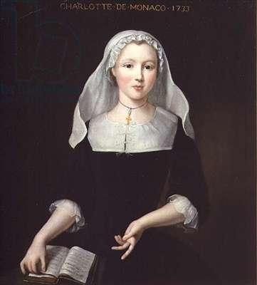 Portrait of Charlotte Grimaldi of Monaco, 1733 (oil on canvas)