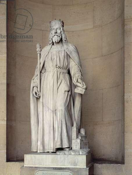 Dagobert (605-39) King of the Franks, 1836 (marble)