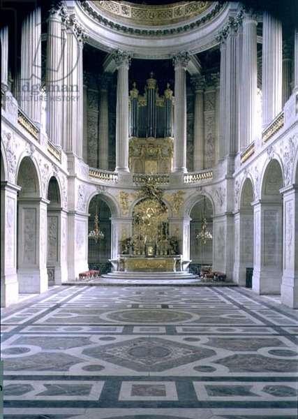 The Royal Chapel, looking east towards the altar, begun 1699 (photo)